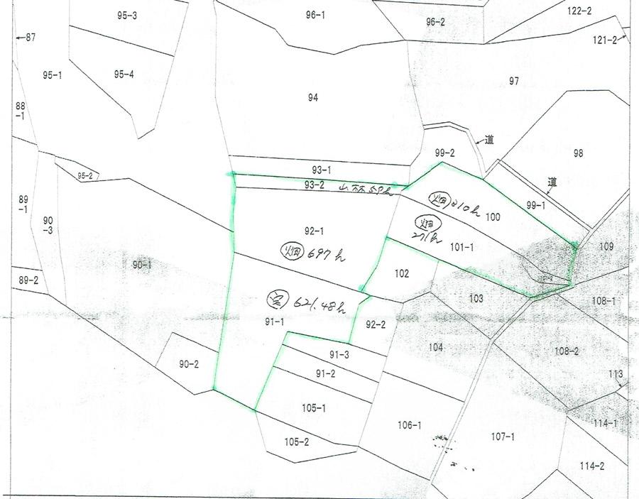 南房総市石堂原の物件の地積図